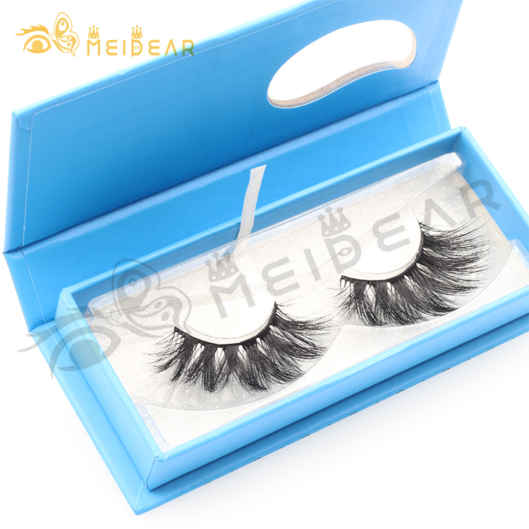 25mm 3D mink lashes vendors provide long 5D false eyelashes to USA